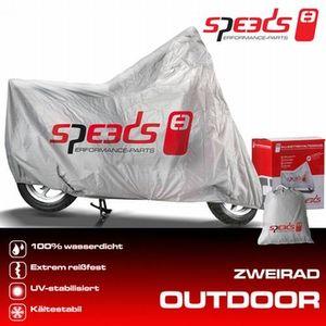 SPEEDS Outdoor Abdeckplane Zweiradgarage Größe M 225x90x117cm
