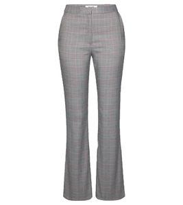 NA-KD checked Hose karierte Damen Business-Hose im Glencheck-Design Grau, Größe:38