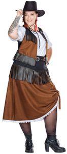 Cowgirl Kostüm Fullcut, Groesse:52