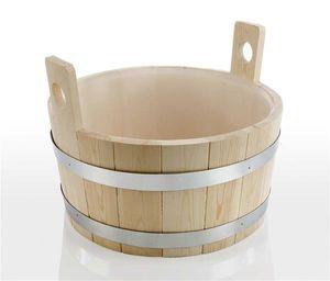 Eliga Fußwanne / Fußbadekübel 17L aus Nadelholz mit Kunststoffeinsatz