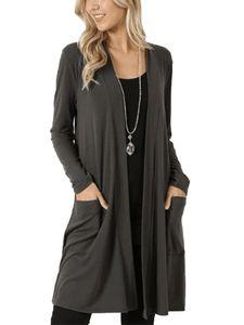 Strickjacke für Damen in Übergröße Strickjacke für Damen mit langen Ärmeln Top,Farbe: Grau,Größe:3XL
