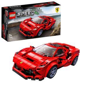 LEGO 76895 Speed Champions Ferrari F8 Tributo, Modellauto, Spielzeugauto, Spielzeug für Kinder ab 7 Jahre, Rennauto als kleines Geschenk