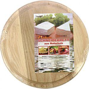 Brotzeitbrett Küche Schneidebrett Holzbrett Rund 23 x 0,5 cm aus Birkenholz
