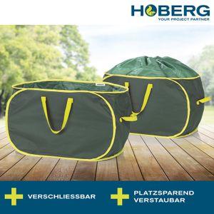 Gartenabfalltasche Laubsack Gartensack Hoberg 2er Set Garten Abfalltasche Laub