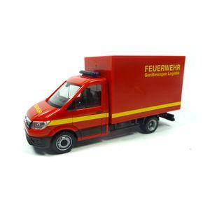 """Herpa 094320 MAN TGE Koffer-LKW """"Feuerwehr"""" rot Maßstab 1:87"""