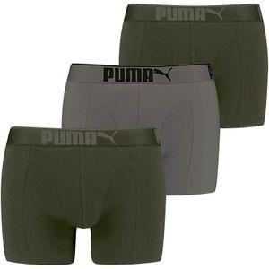3er Pack PUMA Premium Sueded Baumwolle Boxershorts dark green combo L