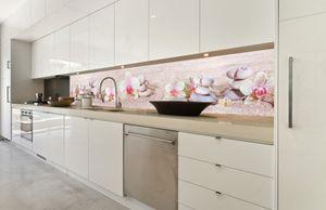 Küchenrückwand Folie selbstklebend ZEN GARTEN 350 x 60 cm   Klebefolie - Dekofolie - Spritzschutz für Küche  