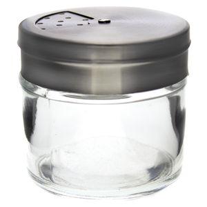 12 x Gewürzstreuer aus Glas mit Edelstahlverschluss 100 ml - Gewürzglas Streuer Gewürze