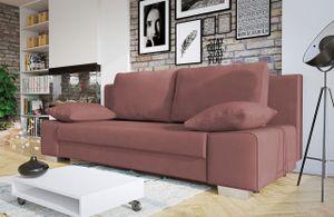 Mirjan24 Sofa Laura, Couch mit Bettkasten und Schlaffunktion, Couchgarnitur, freistehendes Schlafcouch, Schlafsofa vom Hersteller, Polstersofa (Solo 255)