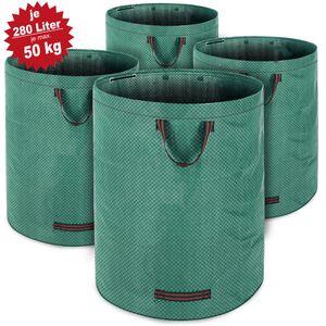 Gartentasche 280L, max. 50kg Füllgewicht + 3 Tragegriffe, Anzahl:4x Laubsack