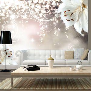 Vlies Tapete  Top  Fototapete  Wandbilder XXL  400x280 cm - BLUMEN ABSTRAKT b-A-0012-a-b