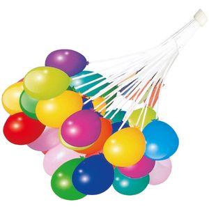 cofi1453® Wasserballons 111 Stk. Luftballons Wasserbomben Spiel Außen Bunt Ballons, Gartenschlauch-Adapter