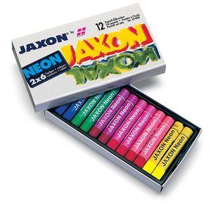 Pastell-Ölkreide Jaxon, 12er-Sortiment Neonfarben