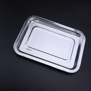 Edelstahl-Grillplatte Wiederverwendbare Geschirrtrockenschale Geschirrspüler-Grillpfanne 36x27x4,8 cm