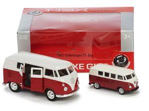 Modellauto 2er Set Volkswagen T1 Bus 1963