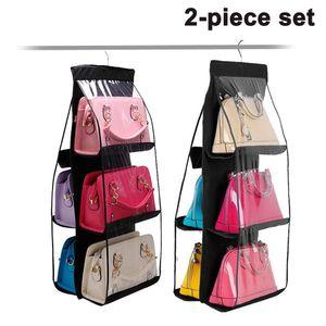 Handtaschen Organizer Hängend mit 6 Fächer Taschenhalter für Handtaschen Aufbewahrung, Taschenorganizer Hängende Aufbewahrung