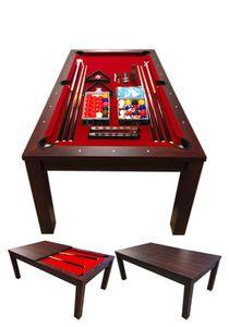 Billardtisch Billard Billard-Spiel 7 FT mod. Vulcan Rot Messung 188 x 96 cm Neue