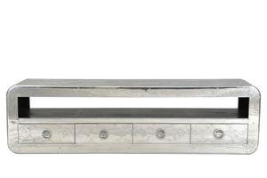 Sit Möbel AIRMAN Lowboard Aluminium beschlagen   L 200 x B 40 x H 56 cm   silber   01775-21   Serie Airman
