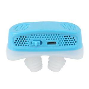Micro CPAP Anti Schnarchen Elektronisches Geraet fuer Schlafapnoe Stop Snore Aid Stopper