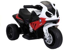 Elektro Kinder Motorrad BMW Bike in Rot Weiß Trike elektrisch 6V