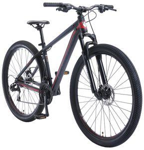 BIKESTAR Alu Mountainbike 29 Zoll   21 Gang Hardtail Sport MTB 17 Zoll Rahmen Scheibenbremse Federgabel   Schwarz Rot