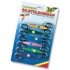 folia 799/6 Konturen-Schere / Bastel-Schere, mehrfarbig, 6-teilig (1 Set)