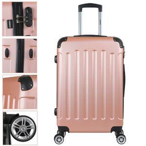 AREBOS Eco Reisekoffer Hartschalenkoffer Trolley Rosé Gold Größe L