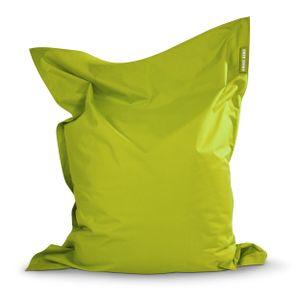 Green Bean © SQUARE XL Riesensitzsack 120x160 cm - Indoor & Outdoor Sitzsack - Gaming Bean Bag Lounge Chair - Kinder & Erwachsene - Grün