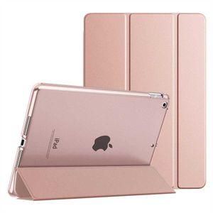 Smart Cover für Apple iPad 8 (2020) 10,2 Zoll Schutzhülle Schale-Soft Cover-Etui Silikon Case Hülle Tasche Rose