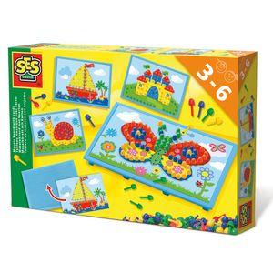 SES Creative mosaiktafel mit Karten 30 x 20 cm mehrfarbig