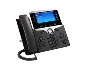Cisco 8851, Schwarz, Kabelgebundenes Mobilteil, Digital, Tisch/Wand, 800 x 480 Pixel, 12,7 cm (5 Zoll)