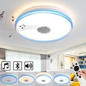 24W Bluetooth Deckenleuchte LED Deckenlampe mit Bluetooth Lautsprecher dimmbar mit Fernbedienung  Runde (40 * 40 * 7cm) [Energieklasse A++]