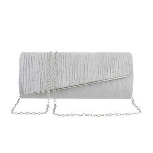 Ital-Design Damen Taschen Abendtaschen & Clutches Silber