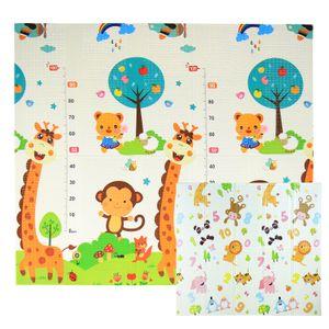 Krabbelmatte Spielmatte Baby Schadstofffrei Faltbar Spielunterlage Wasserdicht, Farbe:Zahlen & Tiere