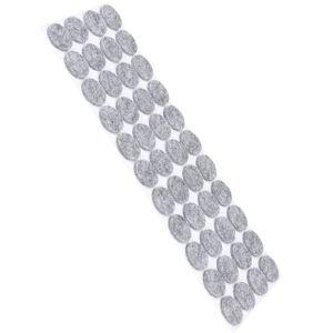 44 Stück Filzgleiter Möbelgleiter Selbstklebend 20x20mm Rund - Grau - Stuhlgleiter