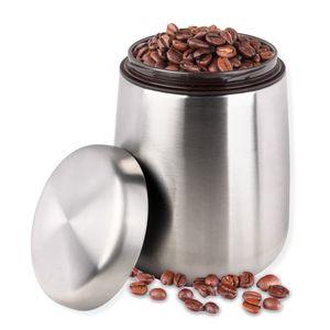 Schramm® Kaffeedose mit Dosierlöffel Kaffeedosen Kaffeebehälter aus Edelstahl mit Aromaverschluss luftdicht Aromadose Vorratsdose für Kaffeebohnen Kaffepulver Kakao Zucker