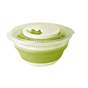 Emsa Basic Falt-Salatschleuder 4,0 l, Grün