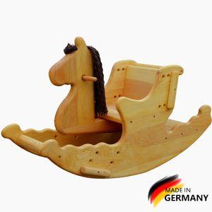 Holz Schaukelpferd Madera, Deutsche Wertarbeit, Wooden rocking horse Montessori