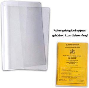 5Pack Schutzhülle Hülle für den neuen Impfpass Impfbuch internationale Impfbescheinigung Impfausweis für Kinder und Erwachsene (93 mm x 130 mm) glasklar