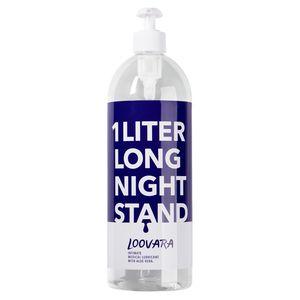 Loovara Long Night Stand Massage-Gel 1 Liter XXL Gleitgel 1000ml Gleitmittel wasserbasis, parfümfrei, geschmacksneutral, silikonfrei