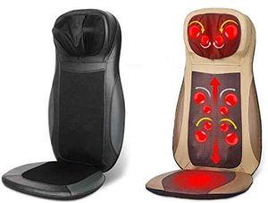 Massagesitzauflage Shiatsu Massage Auflage Massagesessel Massagematte Rückenmassagegerät Mit Wärme- Und Vibrationsfunktion für Büro Zuhause Schwarz