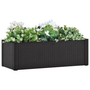 Garten-Hochbeet Selbstbewässerungssystem Anthrazit 100x43x33 cm - Hochbeet für Garden