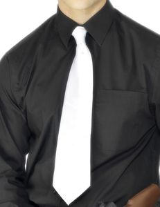Kostüm Zubehör Krawatte in weiß Gangster Gentelman Karneval Fasching