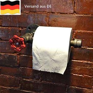 Industrial Urban Retro Wandhalterung Eisen Rohr WC-Papierrollenhalter Neu