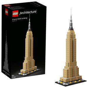LEGO 21046 Architecture Empire State Building, Modellbausatz von New York, ideal für Jugendliche und Erwachsene als Set zum Stressabbau