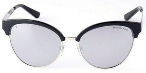 Michael Kors MK-2057 Amalfi 3338Z3 Sonnenbrille mit Etui schwarz/silber