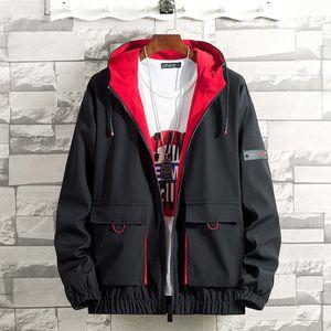 Herren Herbst Frühling Casual Fashion Einfarbige Hoodies Outwear Tops Mantel Größe:XXXXL,Farbe:Rot