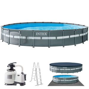 Intex Garten-Aufstellpool mit Zubehör Ultra XTR-Rahmen 732 x 132 cm