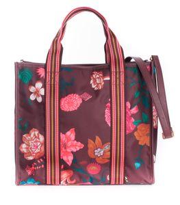 Oilily Winter Bouquet Handbag Burgundy Blaze