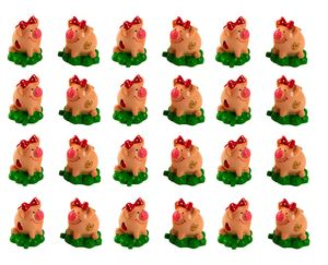 24 Stück Mini Glücksschweinchen Glücksbringer Figuren